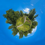 360 graadpanorama van het Centrumnatuurreservaat van het Moerasland van Londen Stock Afbeelding