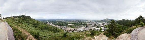 180 graadpanorama van snelle stad, Zuid-Dakota Stock Foto's