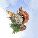 360 graadpanorama WatPraKaew Royalty-vrije Stock Afbeelding