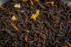 Graaf Grey Tea Inside van een Glas kan Ondiepe DOF stock foto's