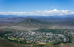 Graaff-Reinet from above Royalty Free Stock Images