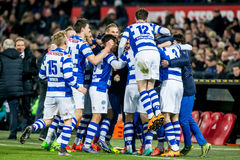 Graafschap players celebrate goal Royalty Free Stock Photography