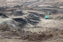 Graafwerktuig bij de bruinkool bovengrondse mijnbouw Royalty-vrije Stock Foto