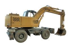 Graafwerktuig - geïsoleerde bulldozer Royalty-vrije Stock Afbeelding
