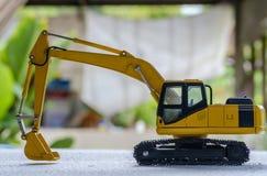 Graafwerktuig modelstuk speelgoed royalty-vrije stock afbeelding