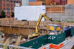 Graafwerktuig op bouwterrein in New York Royalty-vrije Stock Foto