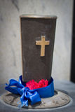 Graal de Graveside pour le mémorial Image stock