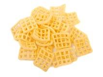 Graan, geïsoleerde chips Royalty-vrije Stock Afbeeldingen