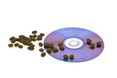 Graan geroosterde koffie en aandrijving voor uw computer Royalty-vrije Stock Fotografie