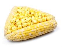 Graan in maïskolven en popcorn Royalty-vrije Stock Fotografie