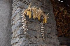 Graan in oud stadsdorp Rango Trentino, selectie één van het mooiste dorp in Italië Royalty-vrije Stock Foto