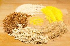 Graan, tarwe, rijst Stock Foto