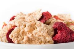 Graangewas met rode vruchten stock afbeelding