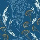 Graangewassen en gras. Naadloos patroon. Vector. Stock Foto's
