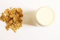 Graangewassen en melk Stock Foto's