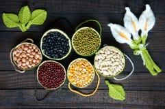 Graangewassen, gezond voedsel, vezel, proteïne, anti-oxyderende korrel, stock foto's