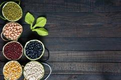 Graangewassen, gezond voedsel, vezel, proteïne, anti-oxyderende korrel, royalty-vrije stock afbeeldingen