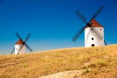 Graanmolens. Consuegra. La Mancha Royalty-vrije Stock Foto's