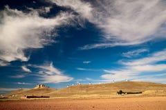 Graanmolens. Consuegra. La Mancha Royalty-vrije Stock Afbeelding