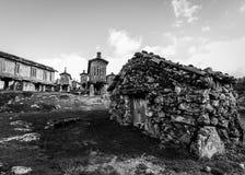 Graanschuuren in Lindoso - Portugal Royalty-vrije Stock Afbeelding