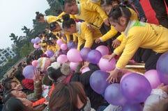 Grab the balloon Royalty Free Stock Image