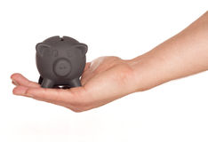 Grab a bargain black friday piggy bank. Cutout Stock Photography
