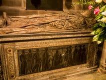 Grab in der Gemeinde-Kirche St. Mary's in unterem Alderley Cheshire Stockbilder