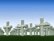 Grab der Wirtschaftlichkeit Stockfoto
