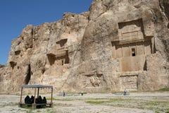 Grab des Königs Daeiros nahe Persepolis Stockbilder