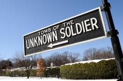 Grab des unbekannten Soldaten Stockbild