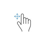Grab finger line icon, touch hand gestures. Grab finger line icon, touch and hand gestures, vector graphics, a color linear pattern on a white background, eps 10 Stock Photos