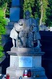 Grab polnischen Doktors der Medizin und des Philanthrops Jozef Torosevich auf Lychakiv-Kirchhof in Lemberg Lizenzfreies Stockbild
