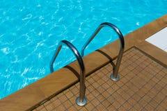 Grab pool  in swimming pool Stock Image