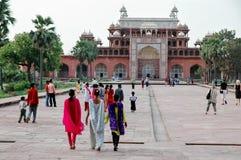 Grab von Akbar The Great in Agra, Indien Lizenzfreies Stockbild