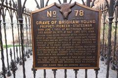 Grab von Brigham Young, Präsident der Mormonenkirche, bei Mormo lizenzfreies stockfoto