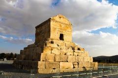Grab von Cyrus das große in Pasargadae, nahe Persepolis, der Iran lizenzfreies stockfoto