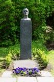 Grab von Edvard Munch auf Kirchhof unseres Retters stockfoto