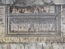 Grab von Enrico Dandolo in Hagia Sofia Stockfotos