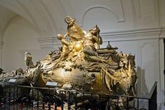 Grab von Karl VI von Habsburger, Wien, Österreich Lizenzfreie Stockfotografie