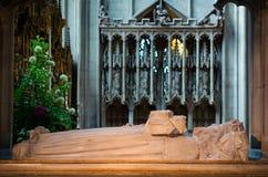 Grab von Osric, angelsächsischer König des Hwicce, in Gloucester-Katze Lizenzfreie Stockfotografie