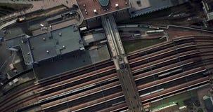 Grabación aérea de la estación de ferrocarril metrajes