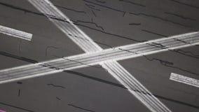 Grabación aérea de la pista almacen de video