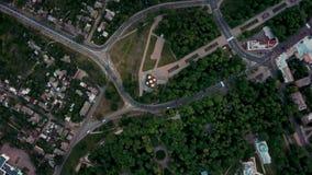 Grabación aérea del paisaje urbano de Chernihiv almacen de metraje de vídeo