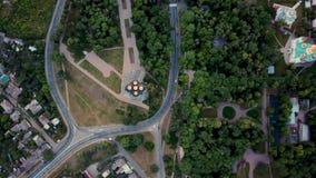 Grabación aérea del paisaje urbano de Chernihiv almacen de video