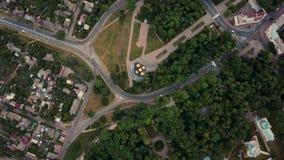 Grabación aérea del paisaje urbano de Chernihiv metrajes