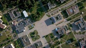 Grabación aérea del paisaje urbano de Slavutych metrajes