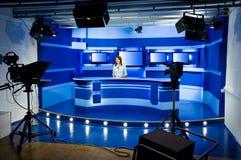 Grabación en el estudio de la TV fotos de archivo libres de regalías