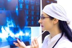 Grabaciones de la radiografía y de la proyección de imagen de resonancia magnética Fotografía de archivo libre de regalías