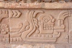 Grabado de dios de Toltec Foto de archivo