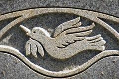 Grabado de la paloma de la paz Fotografía de archivo